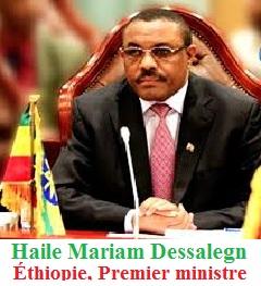 Haile Mariam Dessalegn, premier ministre éthiopien