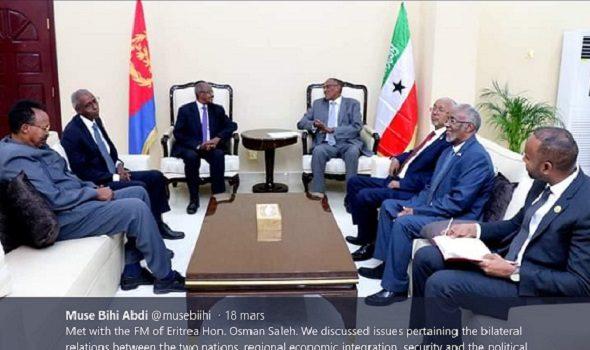 Somalie / Érythrée : Pourparlers entre Hargeisa et Mogadiscio, Érythrée In et Djibouti Out !