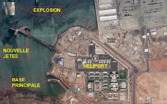 Djibouti/Chine : La base militaire chinoise de Doraleh est en Feu depuis quelques minutes.