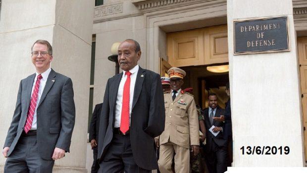 Djibouti / USA : Le ministre de la défense djiboutien à Washington pour dorloter les américains.