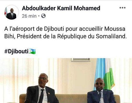 Djibouti – Somaliland: le Premier ministre de Djibouti reconnait la Somaliland comme un état indépendant alors que son consulat à Nairobi soutenait ouvertement…