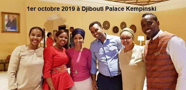 Djibouti/USA : Ilhan Omar, la congressiste américaine à Djibouti pour rencontrer Ali Ahmed Nur Jim'ale de Hormuud Télécommunications.