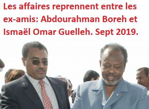 Djibouti : Abdourahman Boreh sera-t-il à Djibouti bientôt suite l'accord secret conclu avec Ismaël Omar Guelleh enseptembre 2019?