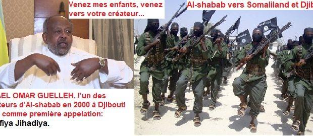 Djibouti/Somalie : Les combattants d'Al-shabab se dirigent vers Djibouti au secours de leur créateur.