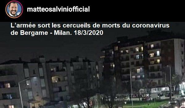 Italie/CORONAVIRUS : L'Italie dépasse la Chine pour le nombre de morts du coronavirus depuis jeudi 19 mars 2020.