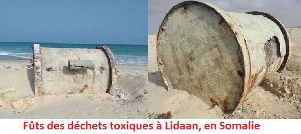 Somalie : Des fûts contenant des déchets toxiques apparaissent depuis certains temps sur la plage de Lidaa en Somalie.