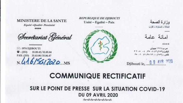 Djibouti/CORONAVIRUS : Djibouti avait annoncé un faux décès au Coronavirus le 9 avril 2020.
