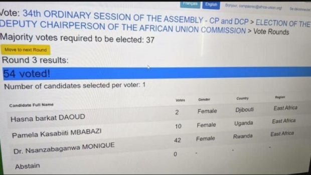 Djibouti/UA : Nsanzabaganwa du Rwanda est la nouvelle vice-présidente de la Commission de l'Union Africaine – UA.